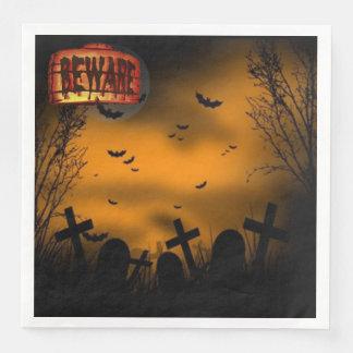 Guardanapo De Papel De Jantar Beware o cemitério do Dia das Bruxas
