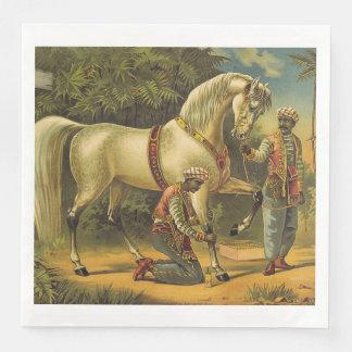 Guardanapo De Papel De Jantar Direitos SUPERIORES do cavalo