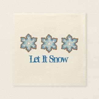 Guardanapo De Papel Deixais lhe para nevar Natal Hanukkah do floco de