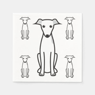 Guardanapo De Papel Desenhos animados do cão do galgo italiano