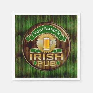 Guardanapo De Papel Dia de São Patrício irlandês do sinal do bar do