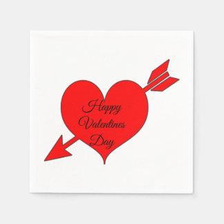 Guardanapo De Papel Dia dos namorados vermelho editável do coração da