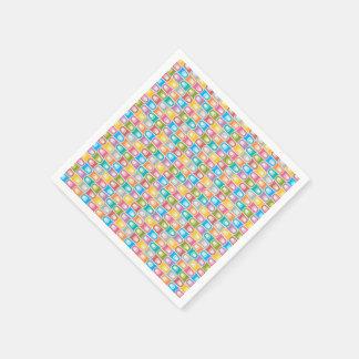Guardanapo de papel do abstrato azul retro do