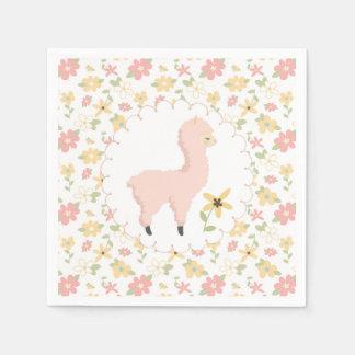 Guardanapo de papel do lama pequeno cor-de-rosa