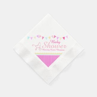 Guardanapo de papel do nome do rosa do chá de fral