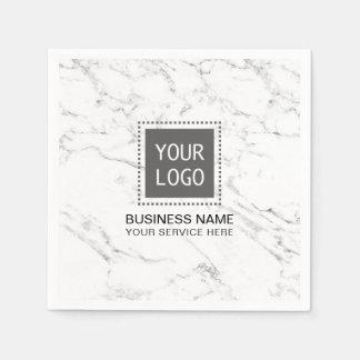 Guardanapo De Papel Escritório para negócios de mármore branco moderno