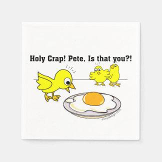 Guardanapo De Papel Excremento santamente! Pete, é que você?