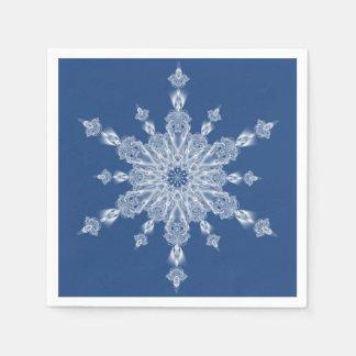 Guardanapo De Papel Floco de neve do partido do inverno em azul e em