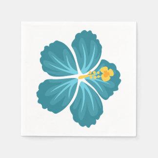 Guardanapo De Papel Flor azul do hibiscus