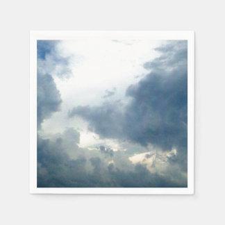 Guardanapo De Papel Fotografia sonhadora do céu nebuloso das nuvens