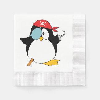 Guardanapo De Papel Gráfico do pinguim do pirata