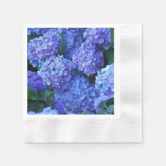 Guardanapo De Papel Hydrangeas azuis florais