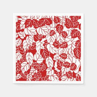 Guardanapo De Papel Impressão da folha, obscuridade - vermelho e