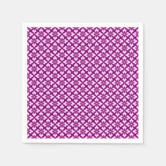 Guardanapo De Papel Impressão floral do quimono, luz - rosa e ameixa