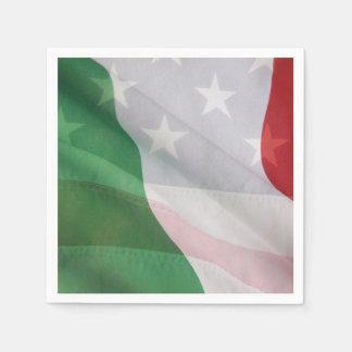 Guardanapo De Papel Italiano e bandeiras dos EUA