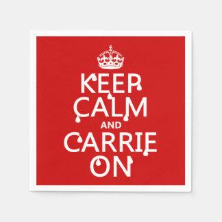 Guardanapo De Papel Mantenha a calma e o Carrie sobre - sangue - todas