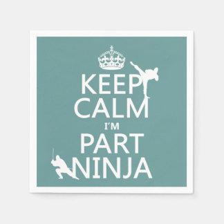 Guardanapo De Papel Mantenha calmo mim são parte Ninja (em alguma cor)
