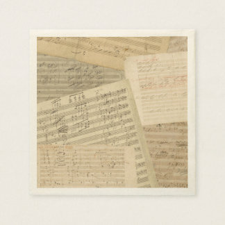 Guardanapo De Papel Mistura do manuscrito da música de Beethoven