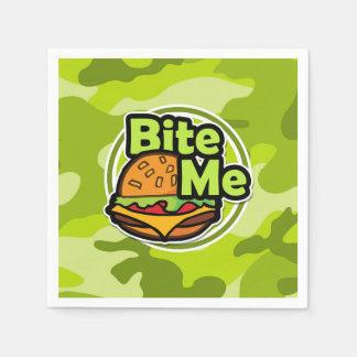 Guardanapo De Papel Morda-me; camo verde-claro, camuflagem
