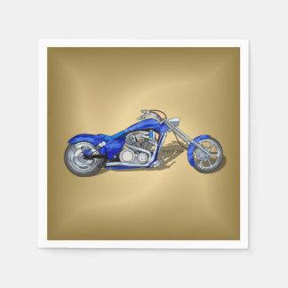 Guardanapo De Papel Motocicleta 1 - Azul