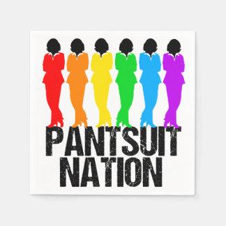 Guardanapo De Papel Mulheres do arco-íris da nação do Pantsuit