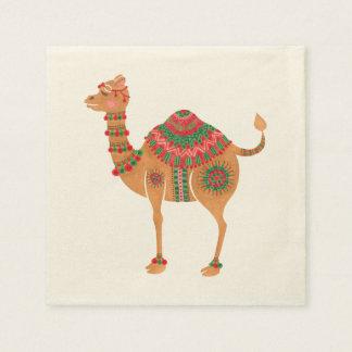 Guardanapo De Papel O camelo étnico