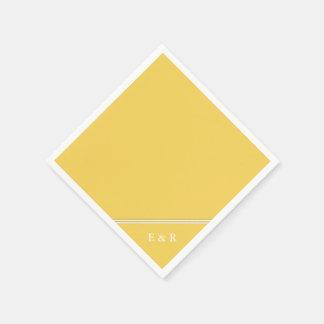 Guardanapo De Papel O desenhista 2017 da primavera de colore o amarelo