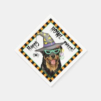 Guardanapo De Papel O Dia das Bruxas Rottweiler