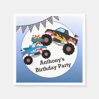 Guardanapo De Papel O monster truck caçoa a festa de aniversário do