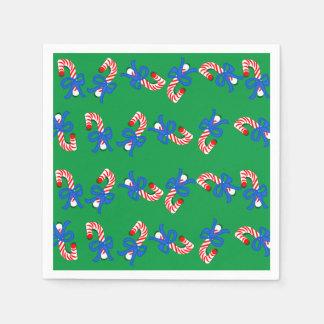 Guardanapo De Papel Os bastões de doces modelaram o bloco verde do