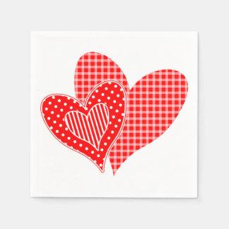Guardanapo De Papel Os corações dos namorados