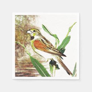 Guardanapo De Papel pássaro bonito da canção do outono da queda dos