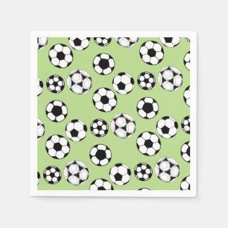 Guardanapo De Papel Preto branco do verde das bolas de futebol
