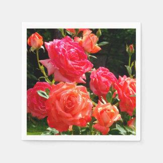 Guardanapo De Papel Rosas do pêssego