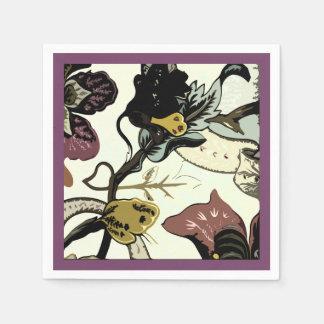 Guardanapo De Papel Roxo abstrato do impressão floral
