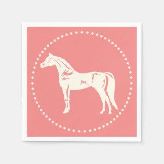 Guardanapo De Papel Silhueta árabe do cavalo