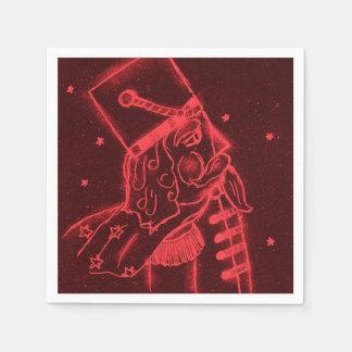Guardanapo De Papel Soldado de brinquedo no vermelho