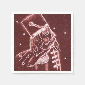 Guardanapo De Papel Soldado de brinquedo no vermelho do arando