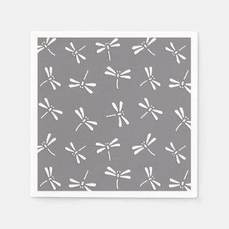 Guardanapo De Papel Teste padrão, cinza/cinzas e branco japoneses da