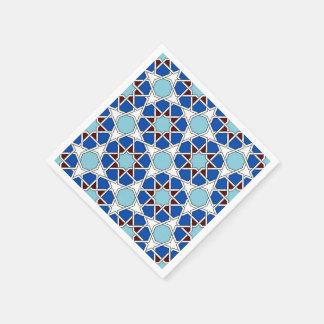 Guardanapo De Papel Teste padrão marroquino geométrico islâmico no