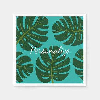 Guardanapo de papel tropicais de impressão floral