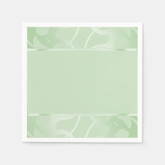 Guardanapo De Papel Verde da hortelã da beira do art deco