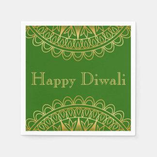 Guardanapo De Papel Verde & partido indiano de Diwali do design do