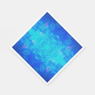 Guardanapo do azul/aqua do caleidoscópio