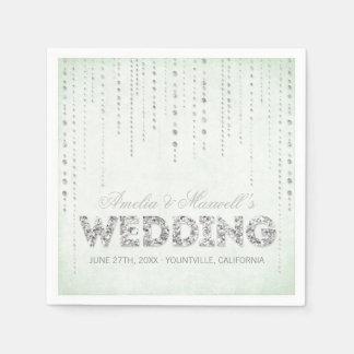 Guardanapo do casamento do olhar do brilho da hort guardanapo de papel