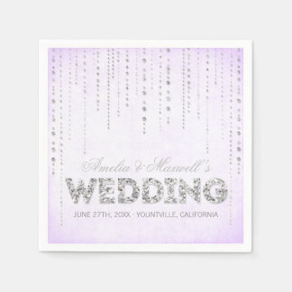 Guardanapo do casamento do olhar do brilho da lava guardanapos de papel