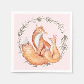 Guardanapo do chá de fraldas do Fox