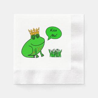 Guardanapo engraçados do sapo para a princesa e o