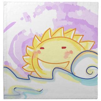 Guardanapo feliz da elevação do sol