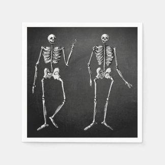 Guardanapo Glam de esqueleto do Dia das Bruxas